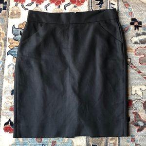 J. Crew Double Serge Cotton Pencil Skirt
